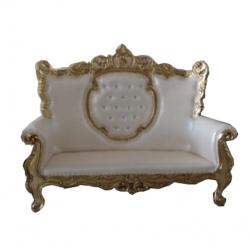 Royal Design Udaipur Sofa - Made Of Wood And Metal - White Color