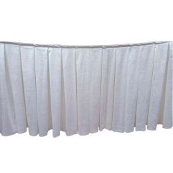 Table Cover Frill - Made of Cotton - White Color (Size Available 10 FT X 15 FT X 20 FT X 30 FT )
