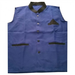 Waiter / Bearer / Bartender Coat Or Vest / Kitchen Uniform Or Apparel For Men; Full-Neckline; Sleeve-less, Made Of Premium Quality Polyester & Cotton.