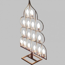 4 FT -  Fancy Decorative Light Stand Indoor & Outdoor - Fancy Stand with Light & Wire - Golden Color