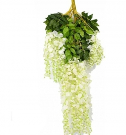 2 FT - Off White Color - Plastic Artificial Flower - Door Hanging - Latkan - Flower - Hanging - Made of Plastic