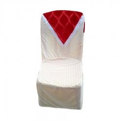 Heavy Velvet Chair Cover Cream Color .