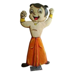 Chota Bheem Fiber  Cartoon Statue  with Stand ( Height 5 Ft & Width 3 Ft )