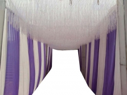 10 FT X 20 FT - Fur Ceiling Jhumar - Entry Gate Jhumar - White Color