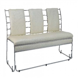 Premium Quality 3 Seater Sofa - Made Of Steel & Fome - Off White Color