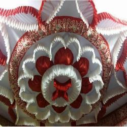 Designer Mandap Ceiling Cloth - Design Brite Lycra Cloth - Taiwan Cloth - Brown & White Color