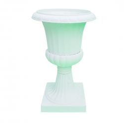 3.5 FT Artificial Fancy Fiber Flower Pot - Fiber Kundi - White Color