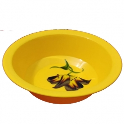 10 Inch Donga  Bowls - Dessert Bowls - Made Of Food Grade Virgin Plastic - Yellow Color