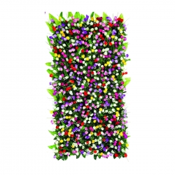 4 FTX 2 FT - Artificial Flowers Wall - Flower Decoration - Multi Color