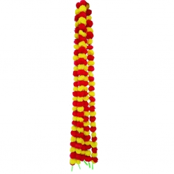 5 FT - Artificial Plastic Flower Garland Toran - Flower Ladi - Flower Decoration - Red & Yellow Color