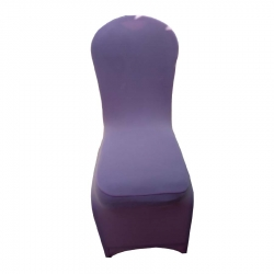 Light Purple Spandex Chair Covers Wedding Universal Fit Size - Light Pink Color