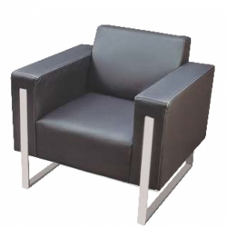 Single  Seater Sofa with Stainless Steel Frame, Ideal for - Office , Living Room & Reception