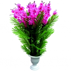 3.5 FT - Plastic Artificial Flower Plant  with Pot For Wedding & Decoration