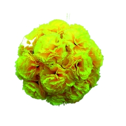 12 Inch - Artificial Plastic Hanging Flower Ball - Flower Decoration - Yellow Color