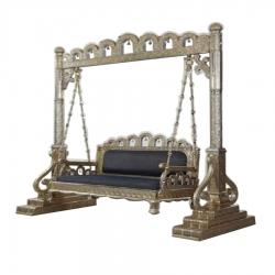 Sliver Color - Jhula - Wedding Swings - Swings - Made Of Wooden & Metal.