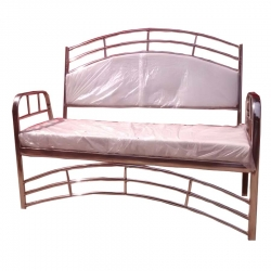 3 Seater Sofa - Royal Steel Sofa - VIP Sofa - Wedding Steel Sofa - Made of Stainless Steel - White Color