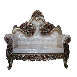 Wedding Reception Sofa - Maharaja Sofa - Made Of Wood & Metal - White  Color.