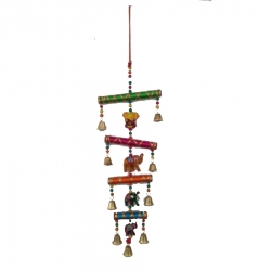 1.5 FT - Rajasthani Jhumar - Bamboo Stick Work Jhumar - Wall Hanging - Multi Color