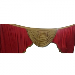 Maroon & Golden Color - Jhalar - Mandap Jhalar For Wedding & Party - Made of Satin Cloth