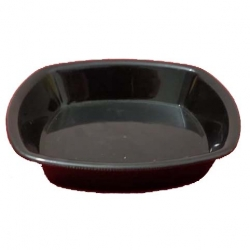 Chat Plates - Dahi Bhalla Plate - Made From Virgin Plastic - Black Color