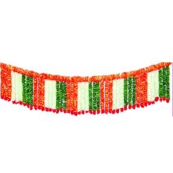 10 FT - Artificial Plastic Flower Toran - Garland Jhalar - Flower Decoration - Multi Color