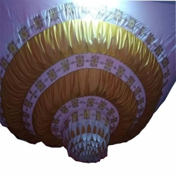 Designer Mandap Ceiling Cloth - Top 14 KG Taiwan - Desing 24 gauge Brite Lycra Cloth .