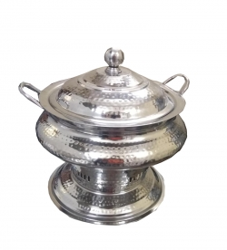 Handi Chapti Design-Hammered / Garam Set / Hot Pot Dish / Made Of Stainless Steel.