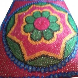 Mandap Rangoli Chadar - Decorative Chadar - Multi Color