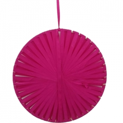 12 INCH & 16 INCH - Rajasthani Wall Hanging Handicraft Made By Ribon - Pink Color