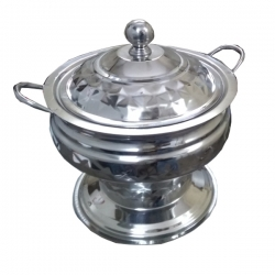 6 LTR - Chafing Dish - Garam Set - Hot Pot - Stainless Steel - Handi Style Shape