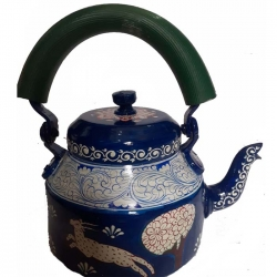 Rajasthani Hand Painted Traditional Aluminium Decorative Multi Color Tea Kettle .