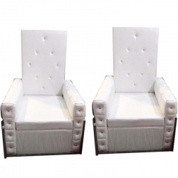 Single Seater Foldable Sofa With Cream color Ideal For - Office , Living Room & Reception
