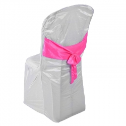 Chandni Chair Cover without Handle For Plastic Chair White Color