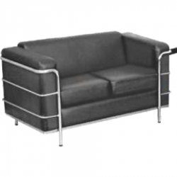 2 Seater Sofa with Stainless Steel Frame, Ideal for - Office , Living Room & Reception.