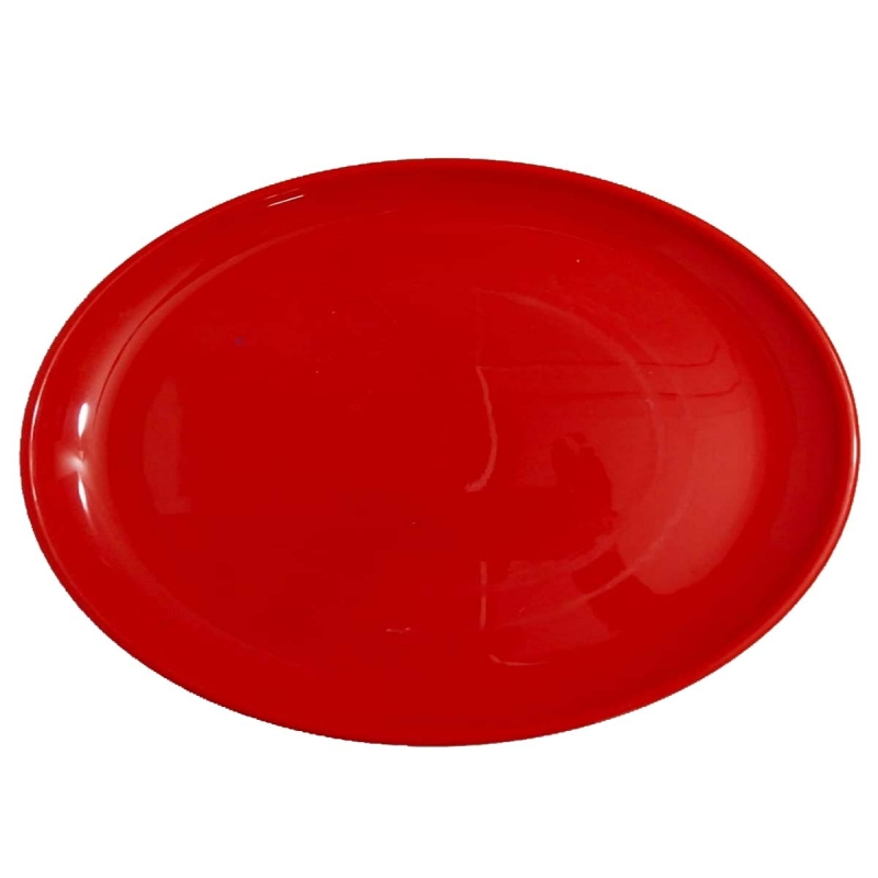 Rice Plates - Made Of Food-Grade Virgin Plastic Material - Red Color