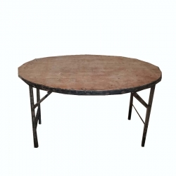 4*4 Feet Round  Heavy Wooden Table with Polly 16 mm / 25 Kg .(Approx) .
