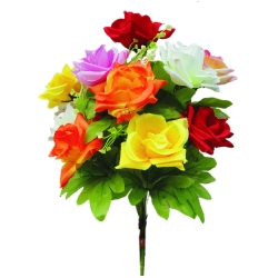 10 Inch - Artificial Plastic Flower Bunches - Flower Decoration - Multi Color