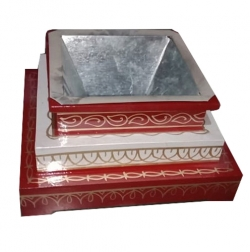 16 Inch X 16 Inch - Sankheda HavanKund - Homkund - Pooja Accessory - Made of Iron & Wooden