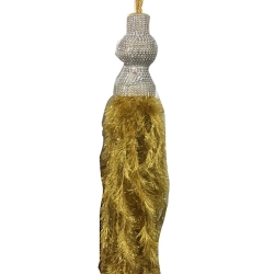 10 ft Hanging Fur / Lout-con / Wall Hanging / Sparkled Fur / Golden Color .