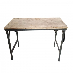 (2 X 4 Feet) Rectangular Table - 20 Kg Heavy Wood Table - Made Of Wood & Iron .
