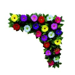 Plastic Flowers Bouquet For Party / Wedding / Office Decoration / Multi Color