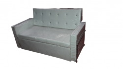 2 Seater Sofa - Made Of Steel & Fome - Off White Color