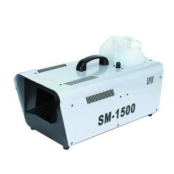 1500 Watt Fog Machine - Smoke Machine - Made Of High Quality Fiber - Light-Grey Color.