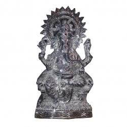 Ganesh ji  Murthi - Idol - Made Of White Metal - Silver Color.