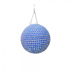 8 INCH - Wall Hanging Decoration Crystal Ball - Hanging Jhumar - Blue Color