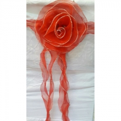 Net Cloth Decorative Chair Belt - Bow - Orange Color
