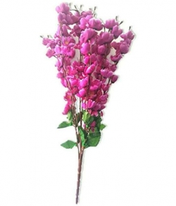 Pink Color - Plastic Artificial Flower - Artificial Cherry Blossom - Flower Bouch - Flower Stick - Made of Plastic  - Size (2 FT)