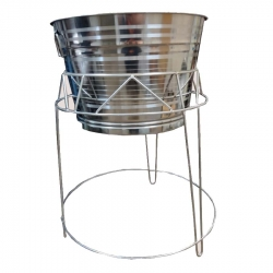2.5 FT - Dustbin Stand With Dustbin - Made of Stainless Steel