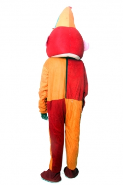 Party Mascot - Adult Costume - Made Of High Quality Plush Material - Pack Of 1 - Orange & Red Color