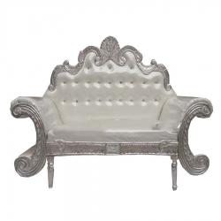 Wedding Reception Sofa - Maharaja Sofa - Made Of Wood & Metal - Off  White color.
